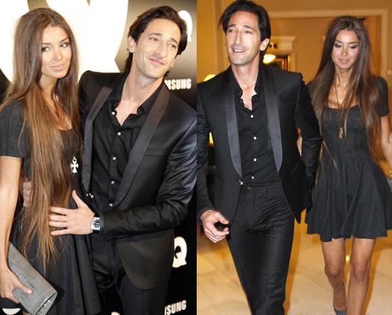 Adrien Brody presume de novia en Madrid, rodeado de bellezas
