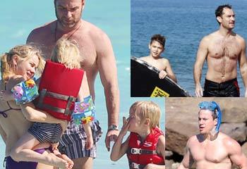Sofía Vergara, Jude Law, Naomi Watts, Leonardo DiCaprio... dan la bienvenida al 2013 con un buen chapuzón