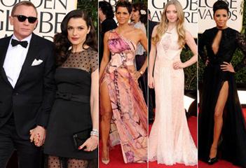 Desfile de 'glamour' en la alfombra roja de los Globo de Oro