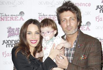 Jesús Olmedo, Elena Furiase, Paula Echevarría, solidarios con Nerea, un bebé que padece una extraña enfermedad