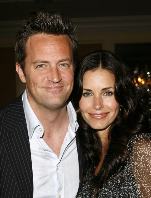 Matthew Perry y Courteney Cox
