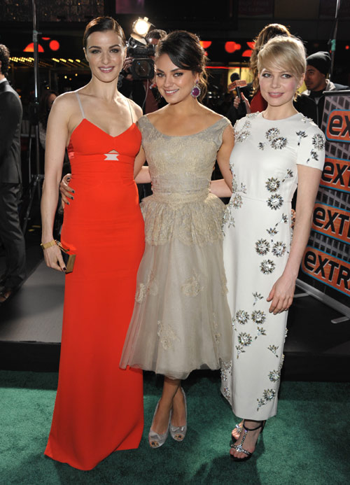 Rachel Weisz, Mila Kunis y Michelle Williams, tres estilos ... James Franco