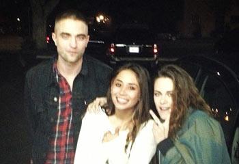 La imagen del esperado reencuentro de Robert Pattinson y Kristen Stewart