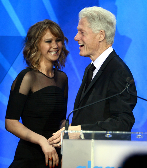 Jennifer Lawrence y Bill Clinton