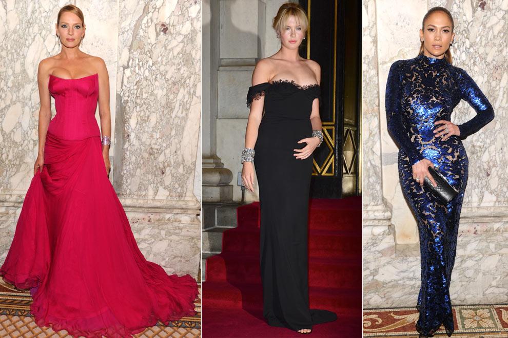 Uma Thurman, Jennifer López y Ireland Baldwin, las invitadas más bellas de la gala AmfAR de Nueva York