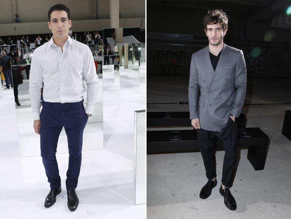Miguel Ángel Silvestre y Quim Gutiérrez, atractivo español en la Paris Fashion Week
