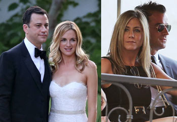 ¡Hollywood se va de boda! Jennifer Aniston y  Justin Theroux toman nota