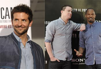 Bradley Cooper, Channing Tatum y Jamie Foxx se dan un garbeo por Madrid
