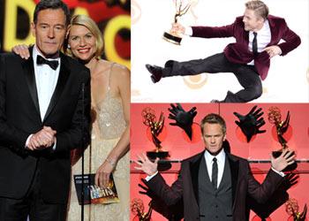 Saltos, baile, parejas y alguna sorpresa en los premios Emmy, la gran noche de la tele