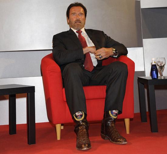 Arnold Schwarzenegger reúne a Guti, Mónica Hoyos, Rosa López y otros amantes del deporte en Madrid