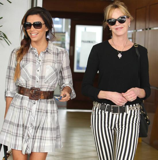 Eva Longoria y Melanie Griffith, dos amigas de compras por Beverly Hills