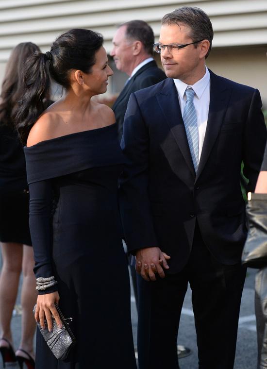 Matt Damon y Luciana Barroso: ocho años juntos y tan enamorados como el primer día