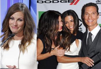 Julia Roberts descalza, las bromas de Sandra Bullock con su ex… los momentos memorables de los premios de Hollywood