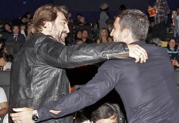 Javier Bardem y Miguel Ángel Silvestre protagonizan un encuentro de cine entre butacas y palomitas