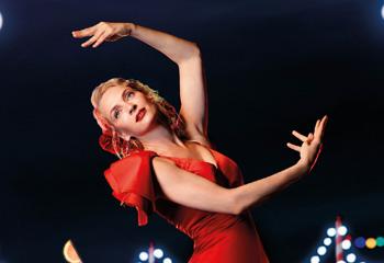 Vicky Martín Berrocal viste de flamenca a Uma Thurman