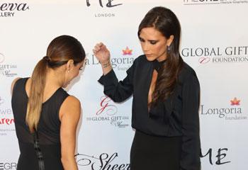 Victoria Beckham 'da el ok' al vestido de Eva Longoria en la alfombra roja de la Global Gift