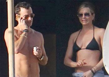 Jennifer Aniston y Justin Theroux despiden al 2013 en México, ¿serán estas sus últimas Navidades de solteros?