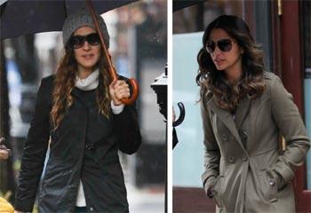 Sarah Jessica Parker, Miranda Kerr y Camila Alves... la cara y la cruz de una tormenta de nieve