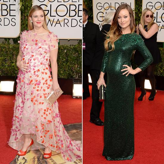 Las futuras mamás de Hollywood lucen embarazo en la alfombra roja de los Globo de Oro