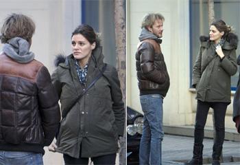 Amaia Salamanca disfruta de un entretenido almuerzo junto al actor Eloy Azorín en su séptimo mes de embarazo