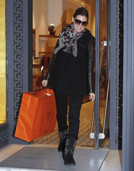 Amaia Salamanca, una futura mamá de 'shopping'
