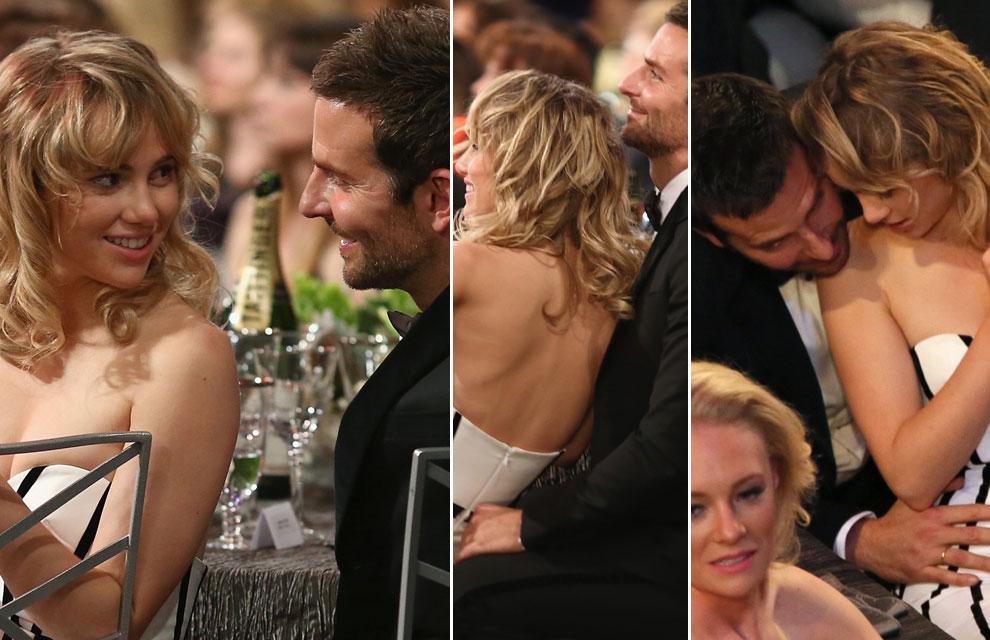 Bradley Cooper y Suki Waterhouse dan rienda suelta a su amor en los premios SAG