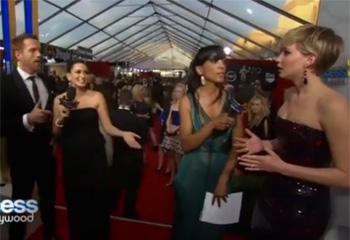 La asombrosa reacción de Jennifer Lawrence tras desvelarle el final de 3ª temporada de 'Homeland' y conocer a su protagonista