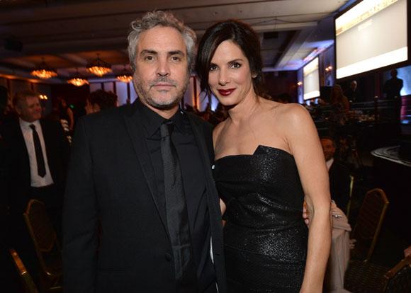 Sandra Bullock, la bella musa de Alfonso Cuarón en los Premios del Sindicato de Directores