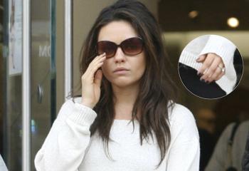 Mila Kunis se compromete con Ashton Kutcher y luce ya su anillo de compromiso