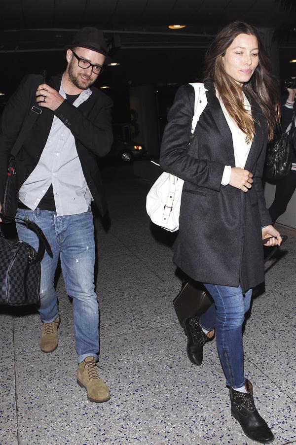Jessica Biel y Justin Timberlake regresan de sus vacaciones en el paraíso