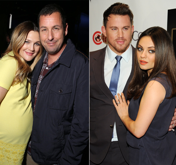Mila Kunis y Drew Barrymore: duelo de embarazadas en Las Vegas