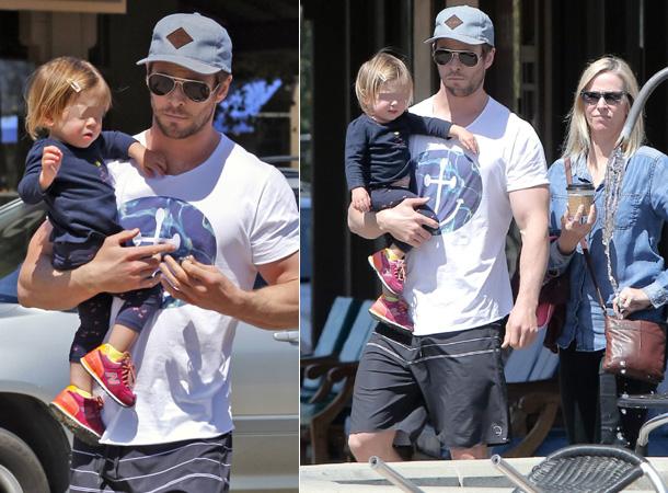 La primera salida de Chris Hemsworth tras haber sido padre de mellizos