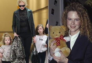 Nicole Kidman aterriza en Sydney junto a sus dos hijas, Sunday y Faith, quien cada día se parece más a la actriz