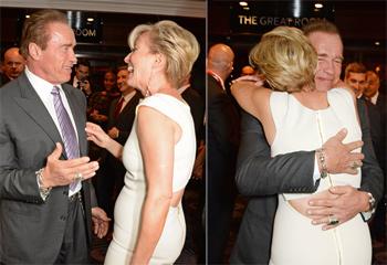 El feliz reencuentro de Emma Thompson y Arnold Schwarzenegger y la reaparición de Tom Cruise