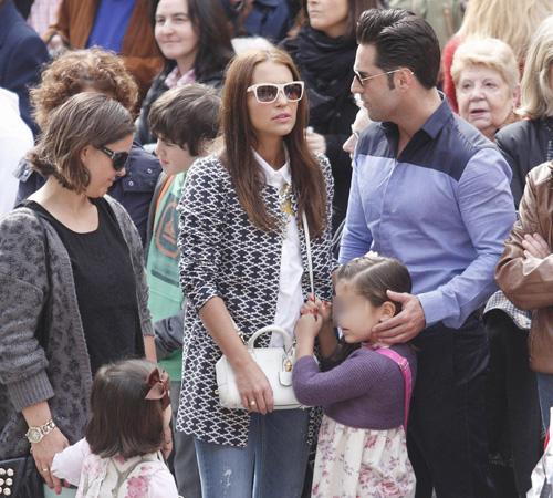 Paula Echevarría, David Bustamante y su hija Daniella disfrutaron de la Semana Santa en tierras asturianas rodeados de familiares y viejos amigos