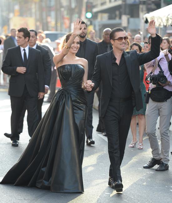 El susto de Brad Pitt y una Angelina Jolie, más 'maléfica' que nunca, en Hollywood