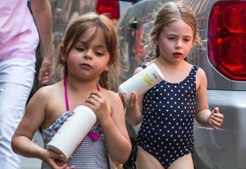 ¿Cómo combaten el calor las hijas de Sarah Jessica Parker?