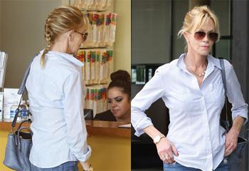 Melanie Griffith se borra con láser el tatuaje, mientras su amiga Sharon Stone niega un 'affaire' con Antonio Banderas