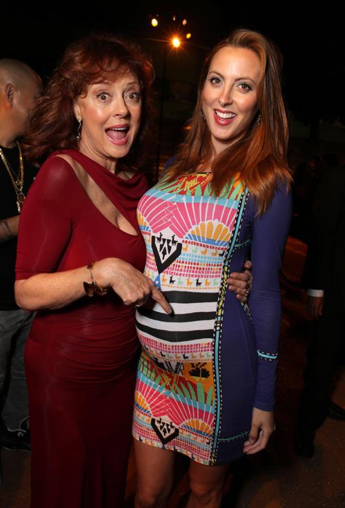 Susan Sarandon presume orgullosa del embarazo de su hija Ryan Gosling And Eva Mendes