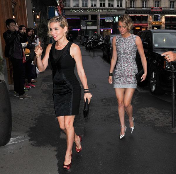 Elsa Pataky, Jennifer Lawrence, Emma Watson y Marion Cotillard, juntas de fiesta en París