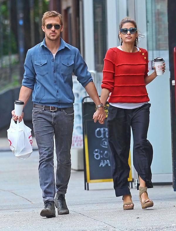 ¡Sorpresa en Hollywood! Eva Mendes, embarazada de siete meses de Ryan Gosling
