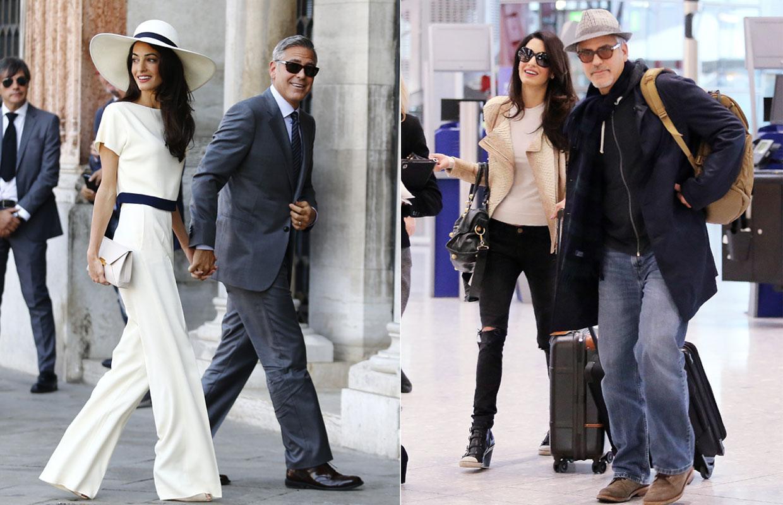 Sr. y Sra. Clooney: mundial fue su despedida y discreta su reaparición