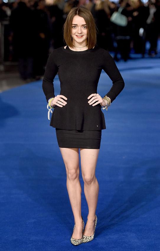 ¡Cómo ha crecido! Maisie Williams, la joven y prometedora estrella de 'Juego de Tronos'