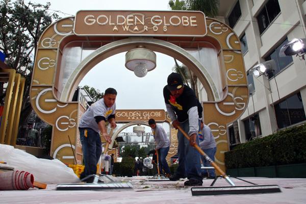 Todo listo para la gran gala de los Globo de Oro