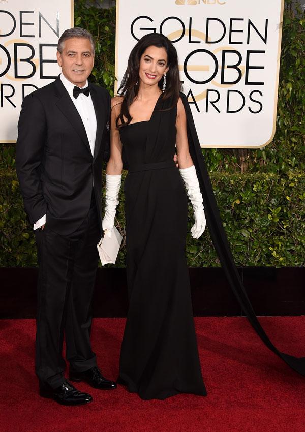 George y Amal Clooney, radiantes en su primera aparición como marido y mujer en una gala de Hollywood