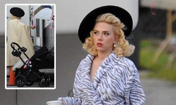Scarlett Johansson, ¿con el bebé al trabajo?