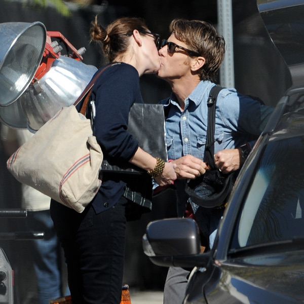 Julia Roberts: un beso y un café para coger fuerzas entre toma y toma