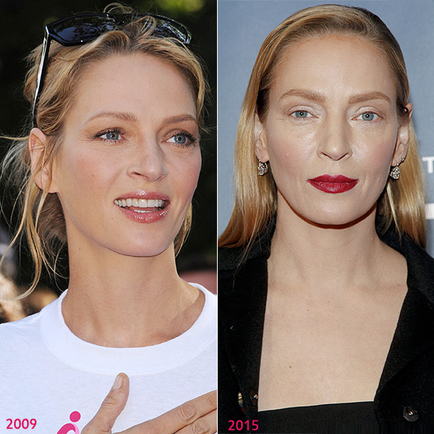 Uma Thurman responde tras su sorprendente y comentado cambio de imagen: 'Parece que a nadie le gustó mi maquillaje'