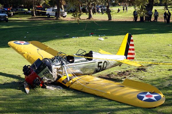 El impactante rescate de Harrison Ford, tras sufrir un accidente de avioneta