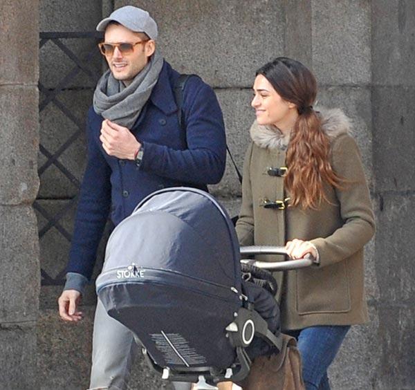 Sergio Mur y Olivia Molina, padres de su segundo hijo, un niño que se llama Eric